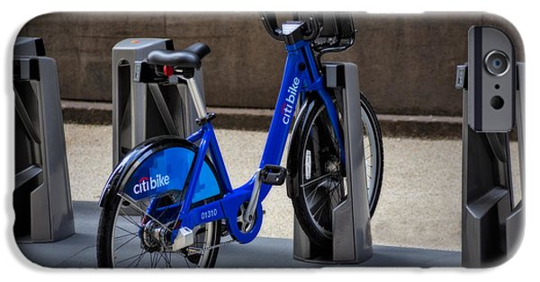 Bicycle iPhone Cases - Lone Citi Bike iPhone Case by Susan Candelario