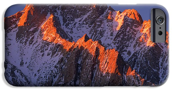 Pines iPhone Cases - Lone Pine Peak iPhone Case by Inge Johnsson