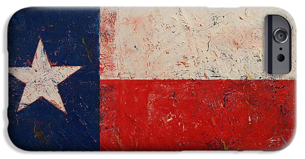 4th July Paintings iPhone Cases - Lone Star iPhone Case by Michael Creese