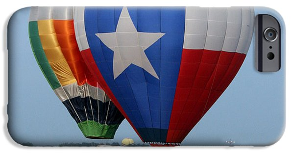 Best Sellers -  - Hot Air Balloon iPhone Cases - Lone Star Pride iPhone Case by Paul Anderson