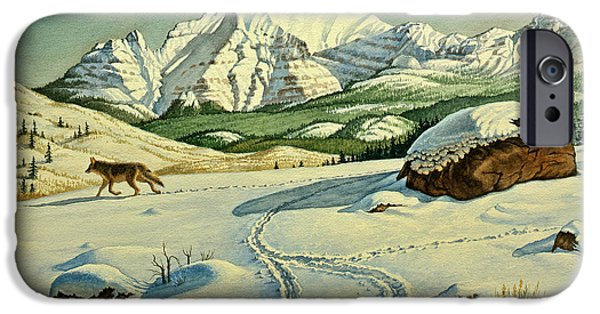 Coyote iPhone Cases - Lone Tracker iPhone Case by Paul Krapf