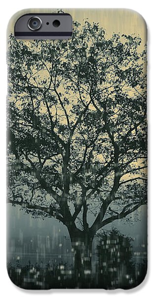 Lone Tree and Stormy Evening iPhone Case by David Gordon