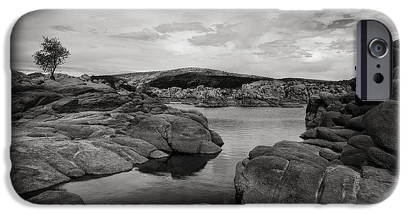 Prescott Arizona iPhone Cases - Lone Tree and Watson Lake iPhone Case by Jesse Castellano