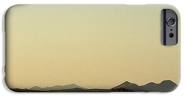 Prescott iPhone Cases - Lone tree landscape Prescott Valley Arizona  2000 iPhone Case by David Lee Guss