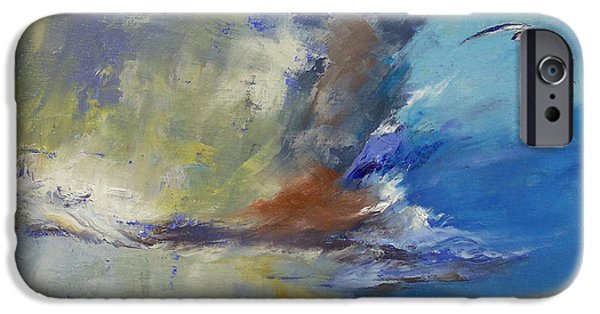 Michael Paintings iPhone Cases - Loneliness iPhone Case by Michael Creese