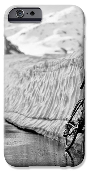 Lonely bike iPhone Case by Maurizio Bacciarini