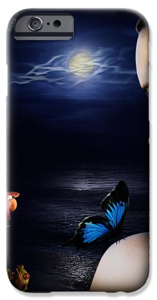 Lonely Blue Princess and the villains iPhone Case by Alessandro Della Pietra