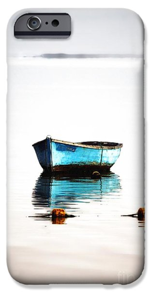 Beauty Mark iPhone Cases - Lonely Boat iPhone Case by Mark Ruti