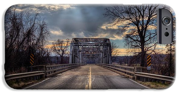 Arkansas iPhone Cases - Lonely Highways iPhone Case by JC Findley