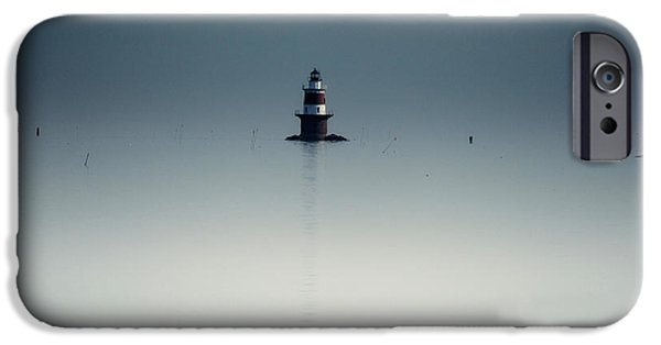 New England Lighthouse iPhone Cases - Lonely Lighthouse  iPhone Case by Karol  Livote
