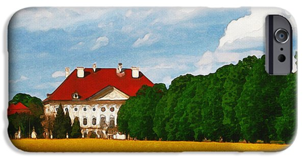 Mansion iPhone Cases - Lonely Mansion iPhone Case by Ayse Deniz