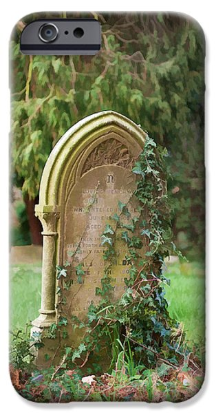 Cemetary iPhone Cases - Lonely iPhone Case by Roy Pedersen