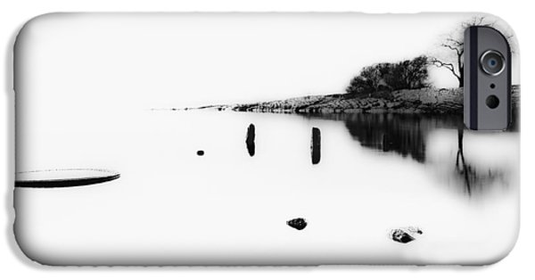 Beach Landscape iPhone Cases - Lonely Tree iPhone Case by Erik Brede