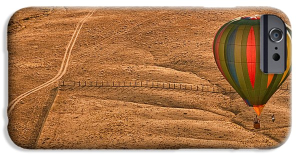 Hot Air Balloon iPhone Cases - Lonesome Road iPhone Case by Keith Berr