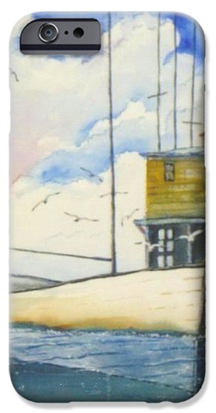 Lonesome Sailboat iPhone Case by Don Hand