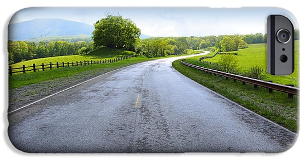 Highlands Digital iPhone Cases - Long and Winding Road iPhone Case by Thomas R Fletcher