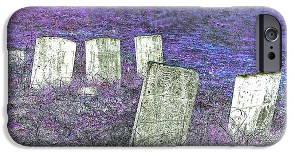 Cemetary iPhone Cases - Long at Peace iPhone Case by Phyllis Meinke