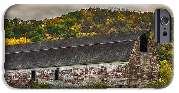 Old Barns iPhone Cases - Long Barn iPhone Case by Paul Freidlund