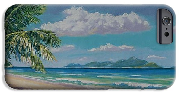 Pastel iPhone Cases - Long Bay Beach  9x23 iPhone Case by John Clark