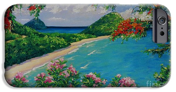 Blossom Pastels iPhone Cases - Long Bay Tortola   9x15 iPhone Case by John Clark