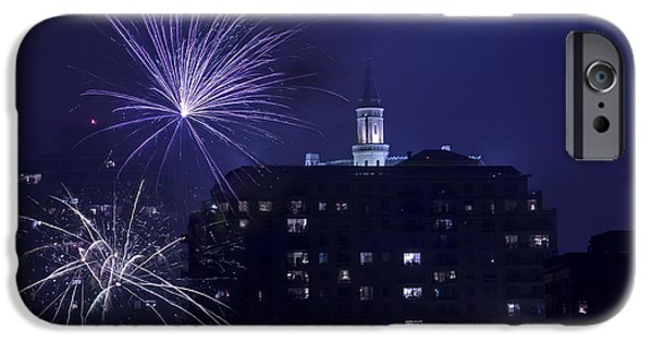 July 4th iPhone Cases - Long Beach Sparkles By Denise DUbe iPhone Case by Denise Dube