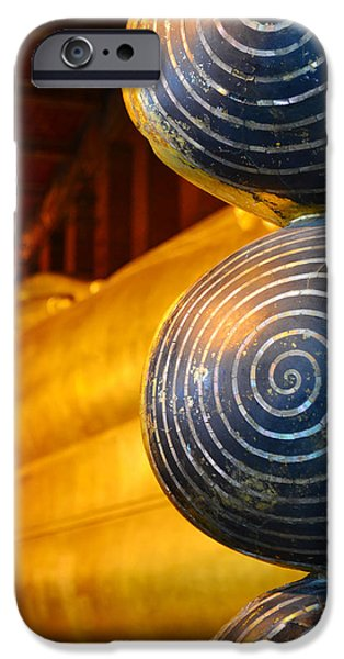 Buddhist Sculptures iPhone Cases - Long Buddha Statue iPhone Case by Chaichana Pratomwong