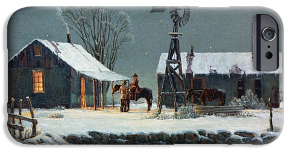 Snow iPhone Cases - Long Days End iPhone Case by Randy Follis