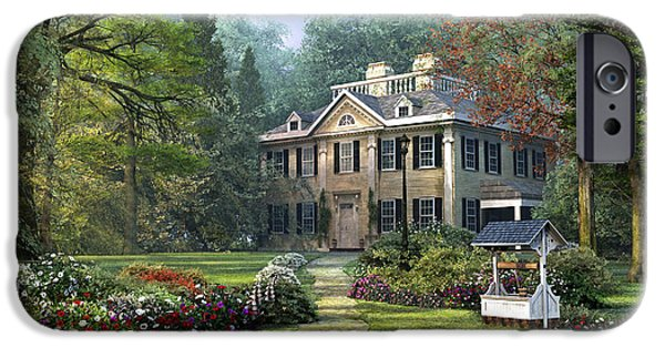 Pathway iPhone Cases - Long Fellow House iPhone Case by Dominic Davison
