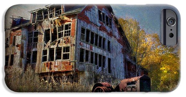 Barns Digital Art iPhone Cases - Long Forgotten iPhone Case by Lori Deiter