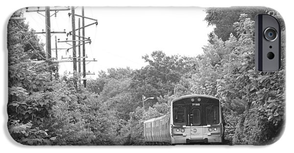 Electrical iPhone Cases - Long Island Railroad Pulling into Station iPhone Case by John Telfer