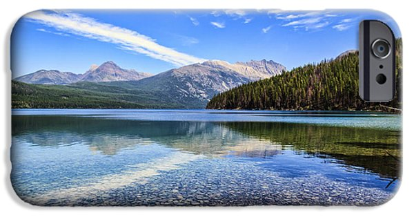 Fed iPhone Cases - Long Knife Peak at Kintla Lake iPhone Case by Scotts Scapes