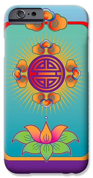 Design iPhone Cases - Long Life Mandala iPhone Case by Marcy Gold