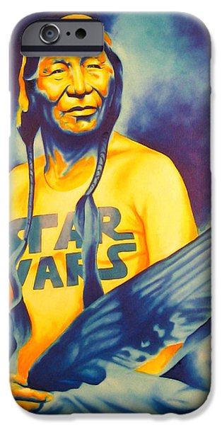 Airbrush iPhone Cases - Long Long Ago iPhone Case by Robert Martinez