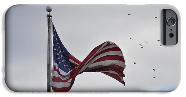 Old Glory iPhone Cases - Long May You Wave iPhone Case by Bill Cannon