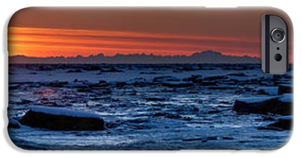 Snow iPhone Cases - Long Night Ahead iPhone Case by Ed Boudreau