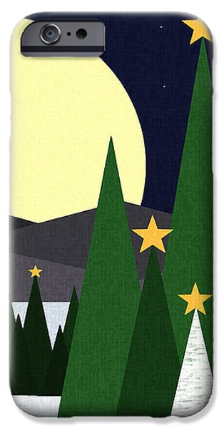 Long Night Moon iPhone Case by Val Arie