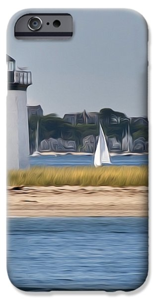 Long Point Light iPhone Case by Bill  Wakeley