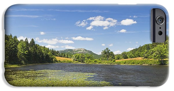 Field. Cloud iPhone Cases - Long Pond - Acadia National Park - Mount Desert Island - Maine iPhone Case by Keith Webber Jr