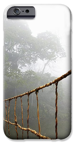Long Rope Bridge iPhone Case by Skip Nall