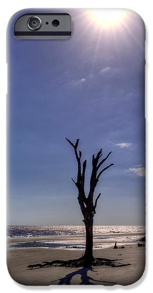 Chrystal iPhone Cases - Long Shadow on Jekyll Island iPhone Case by Greg and Chrystal Mimbs