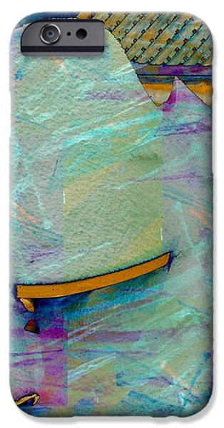 Long Time to Summer - Snow Storm - Blizzard Abstract iPhone Case by Barbara Griffin