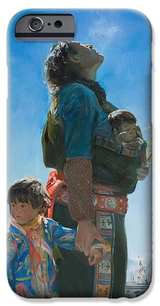 Tibet iPhone Cases - Long way iPhone Case by Victoria Kharchenko