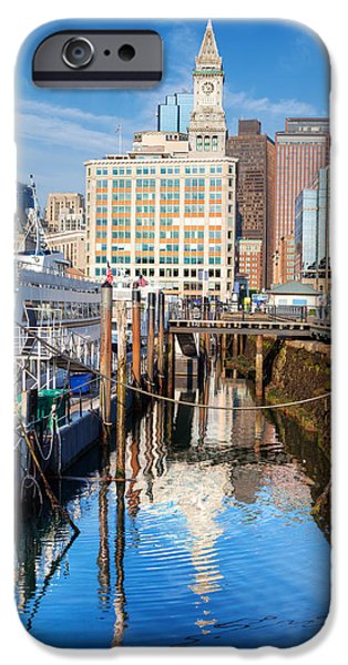 Recently Sold -  - City. Boston iPhone Cases - Long Wharf Boston iPhone Case by Jo Ann Snover