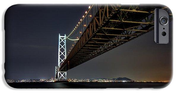 Kobe Photographs iPhone Cases - LONGEST SUSPENSION BRIDGE in the WORLD iPhone Case by Daniel Hagerman