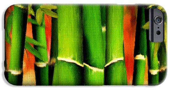 Bamboo Leaves iPhone Cases - Longevity iPhone Case by Lourry Legarde