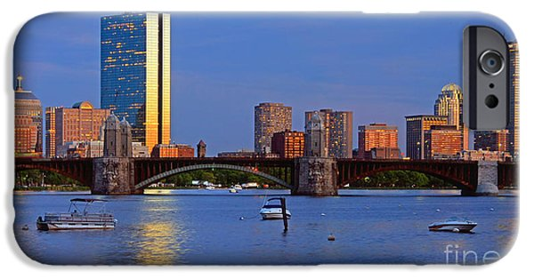 Charles River iPhone Cases - Longfellow Bridge iPhone Case by Joann Vitali