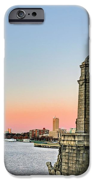 Boston Ma iPhone Cases - Longfellow Bridge Tower iPhone Case by JC Findley
