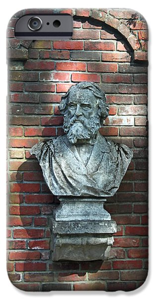 Statue Portrait iPhone Cases - Longfellow iPhone Case by Suzanne Gaff