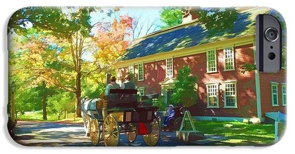 Sudbury Ma iPhone Cases - Longfellows Wayside Inn iPhone Case by Barbara McDevitt