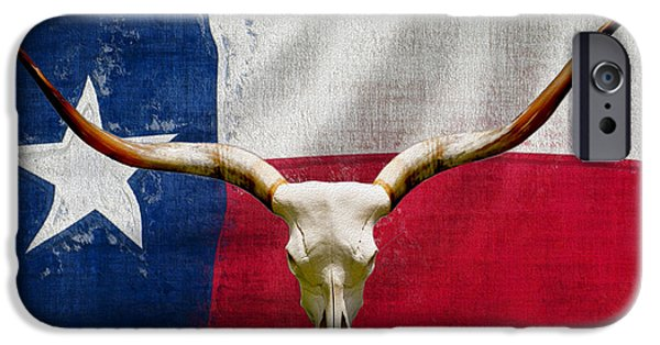 Texas Longhorn iPhone Cases - Longhorn Of Texas 2 iPhone Case by Jack Zulli